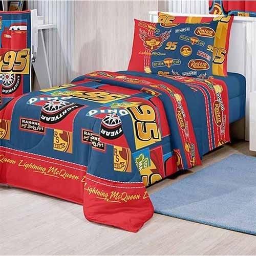 e9a269a2fe Jogo de Cama Infantil Artex Disney - Cars Patch Azul
